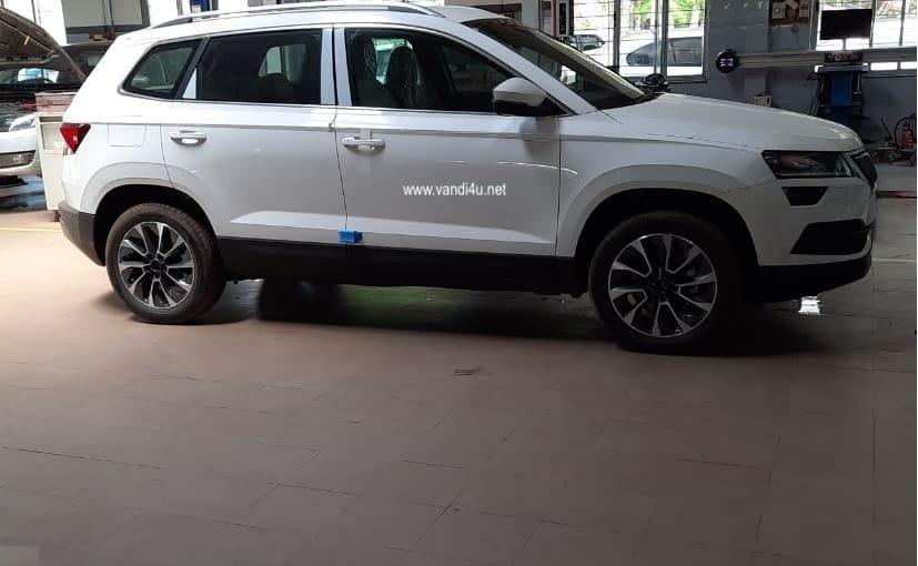 skoda karroq spotted ahead of india launch