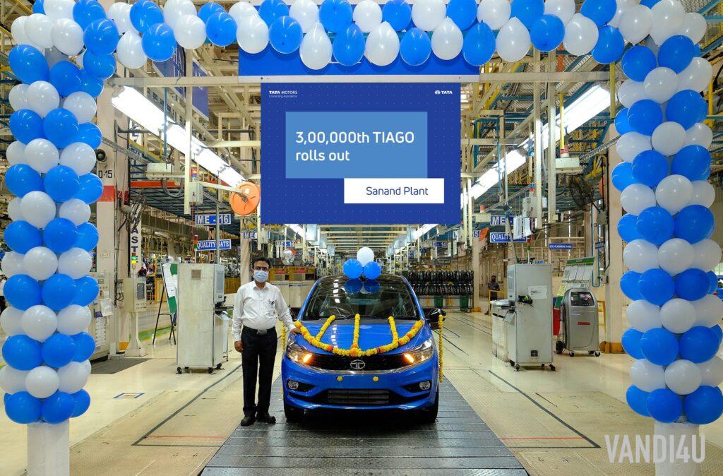 Tata Tiago Attains 3 Lakh Production Milestone in 4 Years   Vandi4u