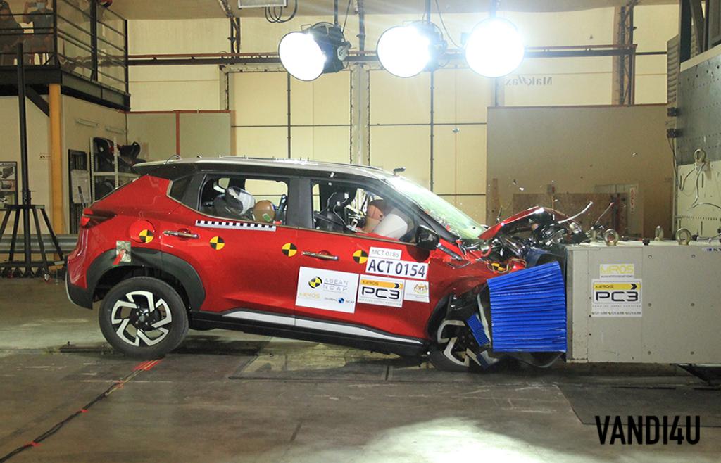 Nissan confirms India-spec Magnite scored 4-stars in crash test   Vandi4u
