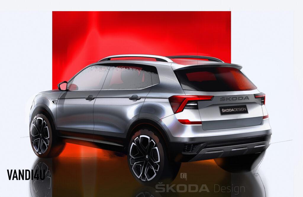 Skoda Kushaq design sketches revealed ahead of its world premiere on March 18   Vandi4u
