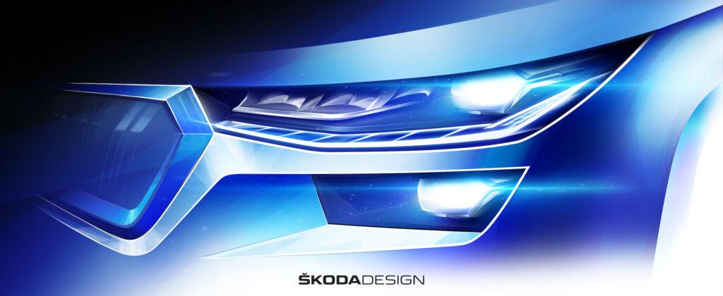 Skoda Kodiaq facelift design sketch