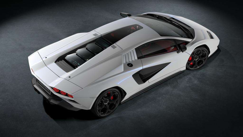 Lamborghini Countach LPI 800-4 top view