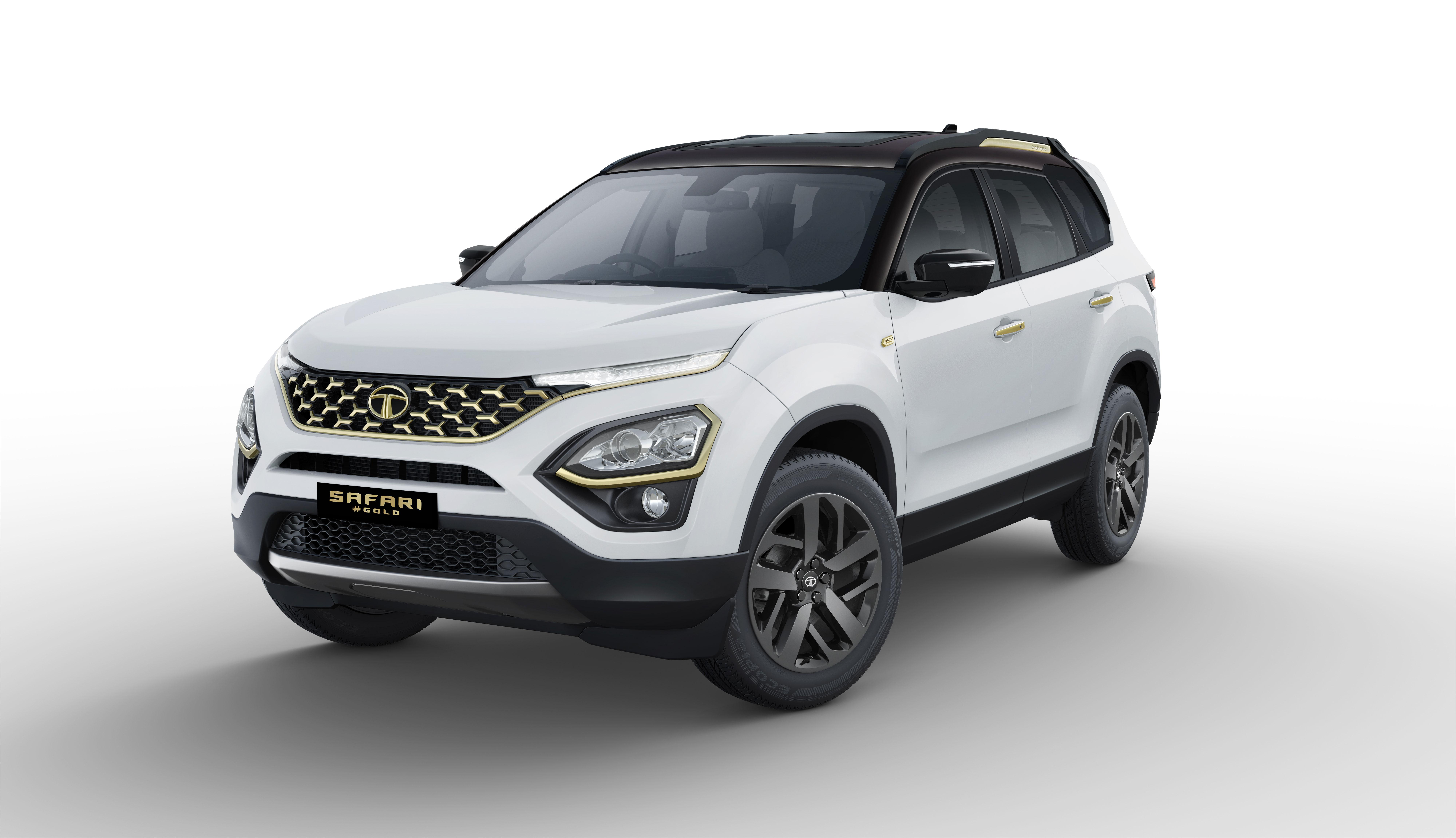Tata Safari Gold three fourth front